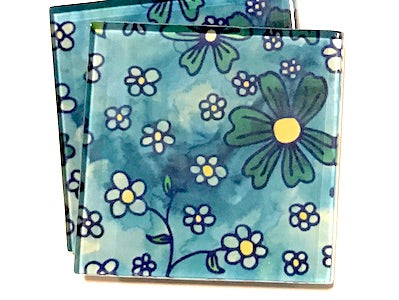 Handmade 5cm Glass Tiles - Pattern 1