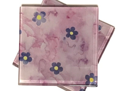 Handmade 5cm Glass Tiles - Pattern 25