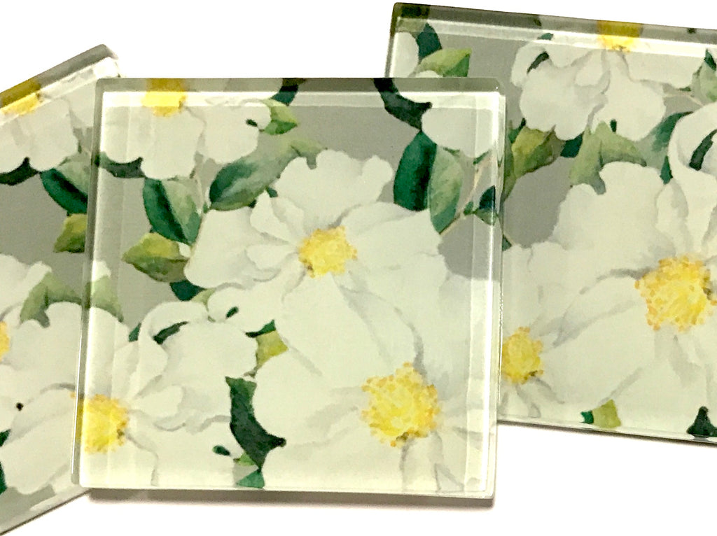 Patterned Handmade 5cm Glass Tiles - No. 17