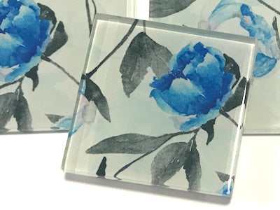 Patterned Handmade 5cm Glass Tiles - No. 4