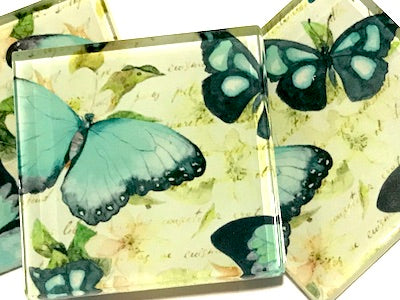 Patterned Handmade 5cm Glass Tiles - No. 6