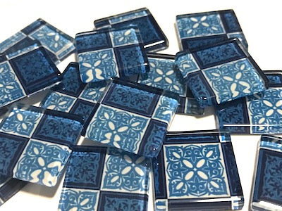 Patterned Handmade Glass Tiles 2.5cm - No. 25 (HM)