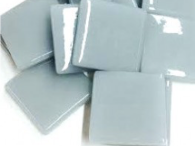 Pearl Grey Gloss Glass Tiles 2.5cm