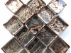 Pewter Silverfoil 1cm Glass Tiles
