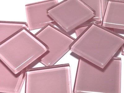 Pink No. 2 Glass Mosaic Tiles 2.5cm