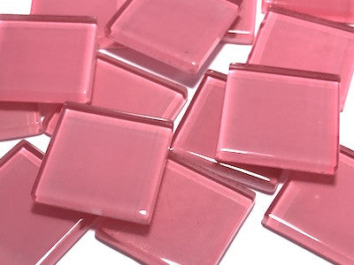 Pink No. 3 Glass Mosaic Tiles 2.5cm
