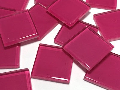 Pink No. 5 Glass Mosaic Tiles 2.5cm