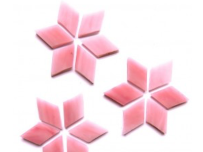 Pink Stained Glass Diamonds