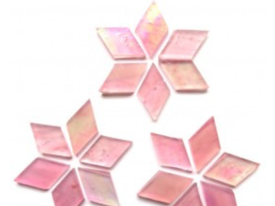 Pink Tiffany Stained Glass Diamonds