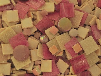Pink Tile & Tesserae Colour Packs. A mix of pink mosaic materials