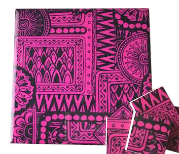 Pink Tribal Ceramic Tiles 10x10cm