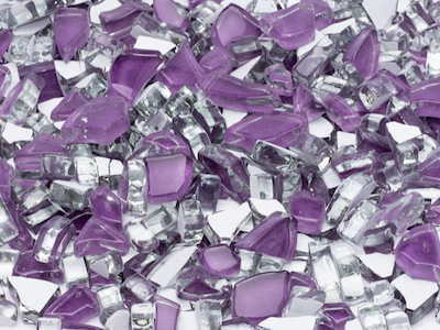 Purple Crackled Glass Mosaic Tiles