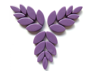 Purple Gloss Glass Petals