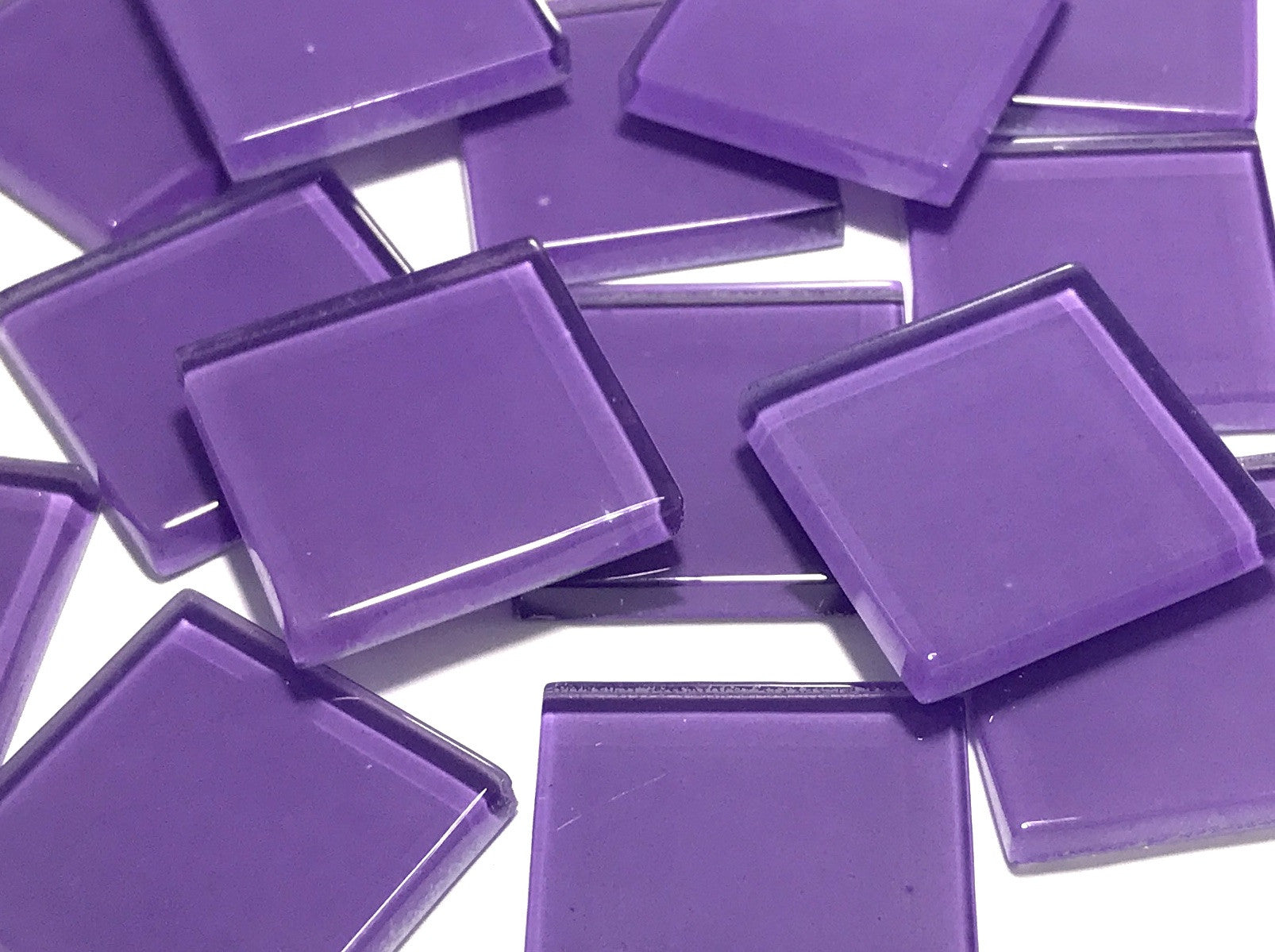 Purple No. 1 Glass Mosaic Tiles 2.5cm