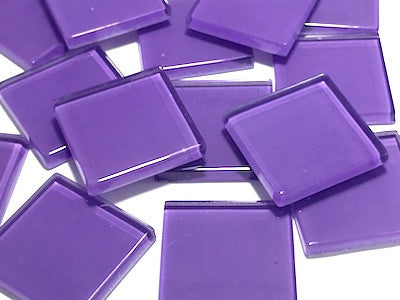Purple No. 2 Glass Mosaic Tiles 2.5cm