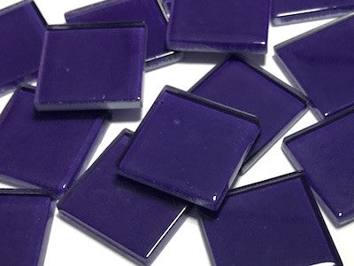 Purple No. 3 Glass Mosaic Tiles 2.5cm