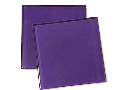 Purple 5cm Glass Tiles