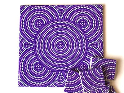 Purple Dots Ceramic Tiles 10x10cm
