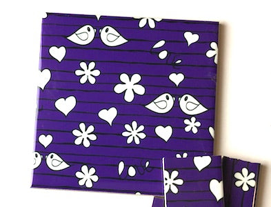 Purple Birds Ceramic Tiles 10x10cm