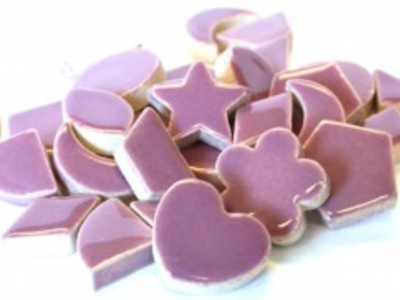 Purple Ceramic Charms