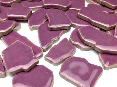 Purple Ceramic Puzzle Pieces