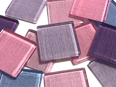 Purple Fine Textured Glass Tiles 2.5cm