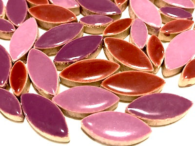 Purple Mixed Ceramic Petals