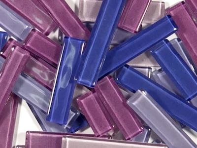 Purple Mixed Glass Rectangles