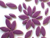 purple ceramic petal tiles