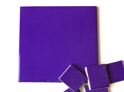 Purple Polka Dots Ceramic Tiles 10x10cm