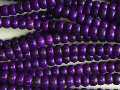 Purple rounded beads