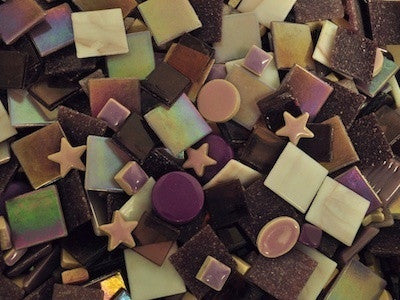 Purple Tile and Tesserae Colour Packs. A variety of purple mosaic materials