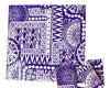 Purple Tribal Ceramic Tiles 10x10cm