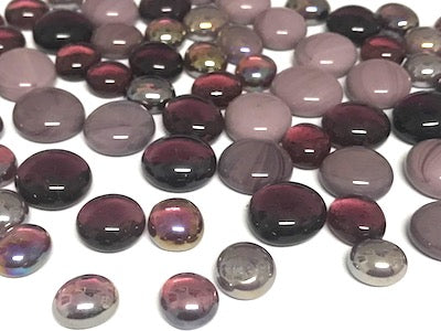 Mini Mixed Purple Glass Gems