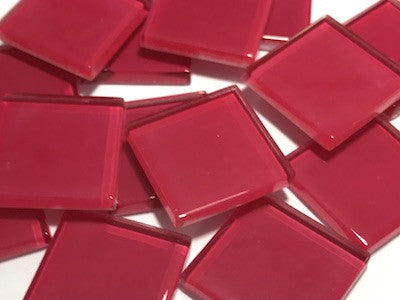 Red No. 2 Glass Mosaic Tiles 2.5cm