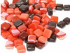 Mixed Red 8mm Glass Tiles