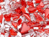 red crackled glass mosaic tiles