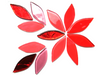 Red Mix Glass Petals
