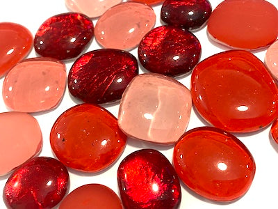 Red Glass Pebbles