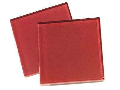 Red 5cm Glass Tiles