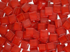 Red Crystal Glass Mosaic Tiles 1cm (I4)
