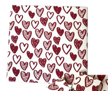 Red Hearts Ceramic Tiles 10x10cm