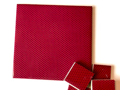 Red Polka Dots Ceramic Tiles 10x10cm