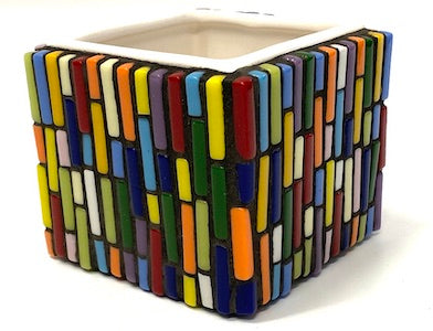 retro mosaic ceramic pot kit