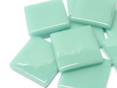 Pale Teal Gloss Glass Tiles 2.5cm