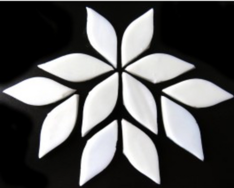 Small White Stained Glass Petals