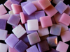 Purple & Pink Mixed 12mm Glass Tiles
