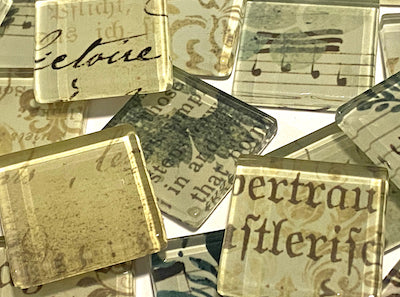 sepia vintage glass tiles