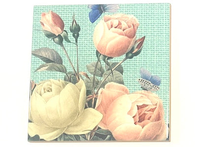 Shabby Chic 10x10cm Ceramic Tiles - No. 13 (HM)