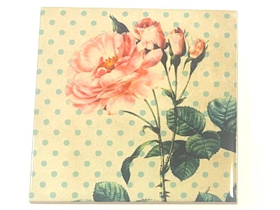 Shabby Chic 10x10cm Ceramic Tiles - No. 17 (HM)